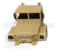 WPL C24 C-24 Spare Parts-36-01 Front car head cover-Yelllow,WPL C24 C-24 RC Car Parts,WPL Parts,WPL C24 C-24 RC Military Truck Spare parts Accessories,WPL 4X4 1:16 Off-road Truck Parts