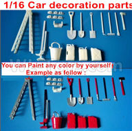 WPL C24 C-24 Spare Parts-39 Upgrade DIY Car decoration parts,You can Paint any color by yourself,WPL C24 C-24 RC Car Parts,WPL Parts,WPL C24 C-24 RC Military Truck Spare parts Accessories,WPL 4X4 1:16 Off-road Truck Parts