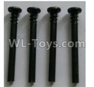 Wltoys 10402 10402.0867 Round head cross upper half screw(4pcs)-ST3X31PB-D6-Upper half-tooth length 6.5mm
