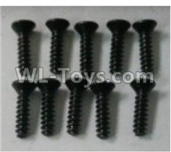 Wltoys 10402 10402.0872 Cross countersunk head tapping screw(10pcs)-ST3X12KB-D5.5