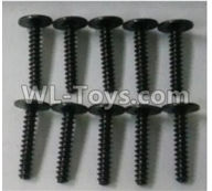 Wltoys 10402 10402.0877 Round head cross with self-tapping screws(10pcs)-ST3x16PWB-W8