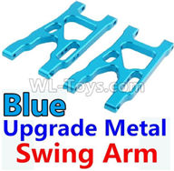 Wltoys 10428-2 Parts-K949-09 Upgrade Metal Swing Arm-Blue-2pcs,Wltoys 10428-2 Rc Car Parts,High speed 1:10 Scale 4wd,10428-B2 Electric Power On Road Drift Racing Truck Car Parts