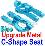 Wltoys 10428-2 Parts-K949-10 Upgrade Metal C-Shape Seat-Blue-2pcs,Wltoys 10428-2 Rc Car Parts,High speed 1:10 Scale 4wd,10428-B2 Electric Power On Road Drift Racing Truck Car Parts
