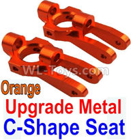Wltoys 10428-2 Parts-K949-10 Upgrade Metal C-Shape Seat-Orange-2pcs,Wltoys 10428-2 Rc Car Parts,High speed 1:10 Scale 4wd,10428-B2 Electric Power On Road Drift Racing Truck Car Parts