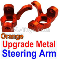 Wltoys 10428-2 Parts-K949-11 Upgrade Metal Steering arm-Orange-2pcs,Wltoys 10428-2 Rc Car Parts,High speed 1:10 Scale 4wd,10428-B2 Electric Power On Road Drift Racing Truck Car Parts