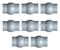 Wltoys 10428-2 Parts-10428-2.0345 5.58X7.9mm-ball head screw set(8pcs),Wltoys 10428-2 Rc Car Parts,High speed 1:10 Scale 4wd,10428-B2 Electric Power On Road Drift Racing Truck Car Parts