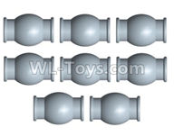 Wltoys 10428-2 Parts-10428-2.0366 6.0x7.9mm-ball head screw set(8pcs),Wltoys 10428-2 Rc Car Parts,High speed 1:10 Scale 4wd,10428-B2 Electric Power On Road Drift Racing Truck Car Parts
