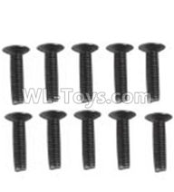 Wltoys 10428-2 Parts-A929-60 Countersunk head inner hexagon Screws-M3X16-Black zinc plated(10PCS),Wltoys 10428-2 Rc Car Parts,High speed 1:10 Scale 4wd,10428-B2 Electric Power On Road Drift Racing Truck Car Parts