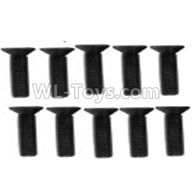 Wltoys 10428-2 Parts-A929-61 Countersunk head inner hexagon Screws-M3X12-Black zinc plated(10PCS),Wltoys 10428-2 Rc Car Parts,High speed 1:10 Scale 4wd,10428-B2 Electric Power On Road Drift Racing Truck Car Parts