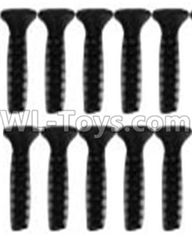 Wltoys 10428-2 Parts-A929-63 Countersunk head inner hexagon Screws-M2.6X10-Black zinc plated(10PCS),Wltoys 10428-2 Rc Car Parts,High speed 1:10 Scale 4wd,10428-B2 Electric Power On Road Drift Racing Truck Car Parts
