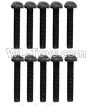 Wltoys 10428-2 Parts-A929-75 Pan head inner hexagon Screws-M3X10-Black zinc plated(10PCS),Wltoys 10428-2 Rc Car Parts,High speed 1:10 Scale 4wd,10428-B2 Electric Power On Road Drift Racing Truck Car Parts