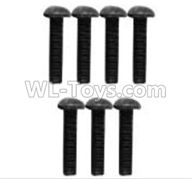 Wltoys 10428-2 Parts-A929-81 Pan head hexagonal screw-3X8(10pcs),Wltoys 10428-2 Rc Car Parts,High speed 1:10 Scale 4wd,10428-B2 Electric Power On Road Drift Racing Truck Car Parts