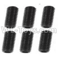 Wltoys 10428-2 Parts-A929-85 Jimi screws-M3X8-Black zinc plated(6PCS),Wltoys 10428-2 Rc Car Parts,High speed 1:10 Scale 4wd,10428-B2 Electric Power On Road Drift Racing Truck Car Parts