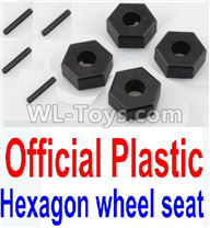 Wltoys 10428-2 Parts-K949-12 Official Plastic 12MM Hexagon wheel seat,Tire adapter(4pcs),Wltoys 10428-2 Rc Car Parts,High speed 1:10 Scale 4wd,10428-B2 Electric Power On Road Drift Racing Truck Car Parts