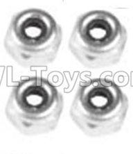 Wltoys 10428-2 Parts-A929-94 M4 Locknut(4PCS),Wltoys 10428-2 Rc Car Parts,High speed 1:10 Scale 4wd,10428-B2 Electric Power On Road Drift Racing Truck Car Parts