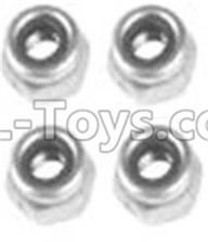 Wltoys 10428-2 Parts-A929-95 M3 Locknut(4PCS),Wltoys 10428-2 Rc Car Parts,High speed 1:10 Scale 4wd,10428-B2 Electric Power On Road Drift Racing Truck Car Parts