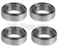 Wltoys 10428-2 Parts-K939-72 Bearing(4pcs)-6X12X4,Wltoys 10428-2 Rc Car Parts,High speed 1:10 Scale 4wd,10428-B2 Electric Power On Road Drift Racing Truck Car Parts