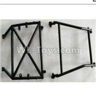 Wltoys 10428-2 Parts-10428-B.0317 Middle Rollcage A,B,Wltoys 10428-2 Rc Car Parts,High speed 1:10 Scale 4wd,10428-B2 Electric Power On Road Drift Racing Truck Car Parts