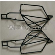Wltoys 10428-2 Parts-10428-B.0319 Left and Right Car side frame,Wltoys 10428-2 Rc Car Parts,High speed 1:10 Scale 4wd,10428-B2 Electric Power On Road Drift Racing Truck Car Parts