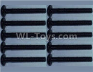 Wltoys 10428-2 Parts-10428-B.0321 head inner hexagon Screws-2.5X16(10PCS),Wltoys 10428-2 Rc Car Parts,High speed 1:10 Scale 4wd,10428-B2 Electric Power On Road Drift Racing Truck Car Parts