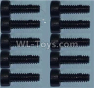 Wltoys 10428-2 Parts-0334 Cup head inner hexagon Screws-M2X8-(10pcs),Wltoys 10428-2 Rc Car Parts,High speed 1:10 Scale 4wd,10428-B2 Electric Power On Road Drift Racing Truck Car Parts
