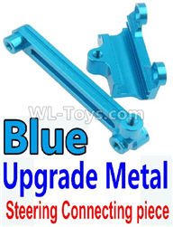 Wltoys 10428-2 Parts-K949-15 Upgrade Metal Steering connecting piece-Blue,Wltoys 10428-2 Rc Car Parts,High speed 1:10 Scale 4wd,10428-B2 Electric Power On Road Drift Racing Truck Car Parts