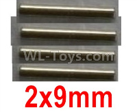 Wltoys 10428-2 Parts-12401.0299 Optical axis-2X9mm(4pcs),Wltoys 10428-2 Rc Car Parts,High speed 1:10 Scale 4wd,10428-B2 Electric Power On Road Drift Racing Truck Car Parts