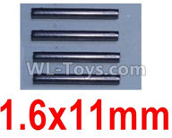 Wltoys 10428-2 Parts-K949-100 1.6X11mm optical axis(4pcs),Wltoys 10428-2 Rc Car Parts,High speed 1:10 Scale 4wd,10428-B2 Electric Power On Road Drift Racing Truck Car Parts