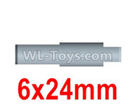 Wltoys 10428-2 Parts-10428-2.0338 Rear axle drive pinion shaft-6X24mm(For Rear bridge axle),Wltoys 10428-2 Rc Car Parts,High speed 1:10 Scale 4wd,10428-B2 Electric Power On Road Drift Racing Truck Car Parts