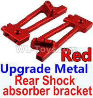 Wltoys 10428-2 Parts-K949-26 Upgrade Metal Rear Shock absorber bracket-Red-2pcs,Wltoys 10428-2 Rc Car Parts,High speed 1:10 Scale 4wd,10428-B2 Electric Power On Road Drift Racing Truck Car Parts
