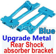 Wltoys 10428-2 Parts-K949-26 Upgrade Metal Rear Shock absorber bracket-Blue-2pcs,Wltoys 10428-2 Rc Car Parts,High speed 1:10 Scale 4wd,10428-B2 Electric Power On Road Drift Racing Truck Car Parts