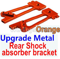 Wltoys 10428-2 Parts-K949-26 Upgrade Metal Rear Shock absorber bracket-Orange-2pcs,Wltoys 10428-2 Rc Car Parts,High speed 1:10 Scale 4wd,10428-B2 Electric Power On Road Drift Racing Truck Car Parts