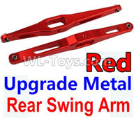 Wltoys 10428-2 Parts-K949-29 Upgrade Metal Rear Swing Arm-Red-2pcs,Wltoys 10428-2 Rc Car Parts,High speed 1:10 Scale 4wd,10428-B2 Electric Power On Road Drift Racing Truck Car Parts