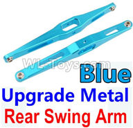 Wltoys 10428-2 Parts-K949-29 Upgrade Metal Rear Swing Arm-Blue-2pcs,Wltoys 10428-2 Rc Car Parts,High speed 1:10 Scale 4wd,10428-B2 Electric Power On Road Drift Racing Truck Car Parts
