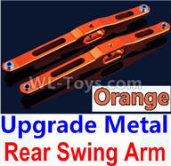 Wltoys 10428-2 Parts-K949-29 Upgrade Metal Rear Swing Arm-Orange-2pcs,Wltoys 10428-2 Rc Car Parts,High speed 1:10 Scale 4wd,10428-B2 Electric Power On Road Drift Racing Truck Car Parts
