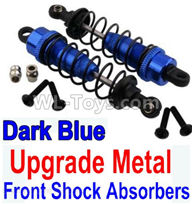 Wltoys 10428-2 Parts-Upgrade Metal Front Shock Absorbers(2pcs)-Darke Blue,Wltoys 10428-2 Rc Car Parts,High speed 1:10 Scale 4wd,10428-B2 Electric Power On Road Drift Racing Truck Car Parts
