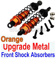 Wltoys 10428-2 Parts-Upgrade Metal Front Shock Absorbers(2pcs)-Orange,Wltoys 10428-2 Rc Car Parts,High speed 1:10 Scale 4wd,10428-B2 Electric Power On Road Drift Racing Truck Car Parts