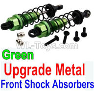 Wltoys 10428-2 Parts-Upgrade Metal Front Shock Absorbers(2pcs)-Green,Wltoys 10428-2 Rc Car Parts,High speed 1:10 Scale 4wd,10428-B2 Electric Power On Road Drift Racing Truck Car Parts