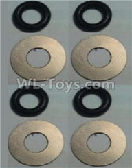 Wltoys 10428-2 Parts-10428-2.0584 Flat Washer(Total 4set,8pcs),Wltoys 10428-2 Rc Car Parts,High speed 1:10 Scale 4wd,10428-B2 Electric Power On Road Drift Racing Truck Car Parts