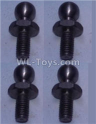 Wltoys 10428-2 Parts-K949-73 4.8 Ball head shape screws(4pcs),Wltoys 10428-2 Rc Car Parts,High speed 1:10 Scale 4wd,10428-B2 Electric Power On Road Drift Racing Truck Car Parts
