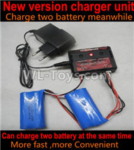 Wltoys 10428-2 Parts-Upgrade charger and Balance charger-Can charge two battery at the same time(We will sent the right version plug according your order address),Wltoys 10428-2 Rc Car Parts,High speed 1:10 Scale 4wd,10428-B2 Electric Power On Road Drift