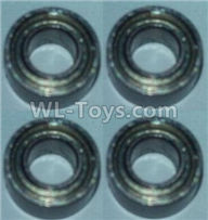 Wltoys 10428-2 Parts-K949-80 Bearing(3X6X2.5)-4pcs,Wltoys 10428-2 Rc Car Parts,High speed 1:10 Scale 4wd,10428-B2 Electric Power On Road Drift Racing Truck Car Parts