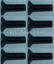 Wltoys 10428-2 Parts-Flat head inner hexagon Screws-M3X10-(8pcs),Wltoys 10428-2 Rc Car Parts,High speed 1:10 Scale 4wd,10428-B2 Electric Power On Road Drift Racing Truck Car Parts