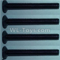 Wltoys 10428-2 Parts-Flat head inner hexagon Screws-M4X32-(4pcs),Wltoys 10428-2 Rc Car Parts,High speed 1:10 Scale 4wd,10428-B2 Electric Power On Road Drift Racing Truck Car Parts