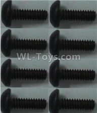 Wltoys 10428-2 Parts-Pan head inner hexagon Screws-M2X6-(8pcs),Wltoys 10428-2 Rc Car Parts,High speed 1:10 Scale 4wd,10428-B2 Electric Power On Road Drift Racing Truck Car Parts