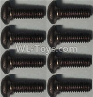Wltoys 10428-2 Parts-Pan head inner hexagon Screws-M2.5X6-(8pcs),Wltoys 10428-2 Rc Car Parts,High speed 1:10 Scale 4wd,10428-B2 Electric Power On Road Drift Racing Truck Car Parts