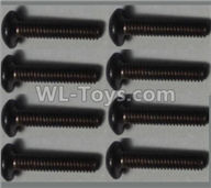 Wltoys 10428-2 Parts-Pan head inner hexagon Screws-M2.5X12-(8pcs),Wltoys 10428-2 Rc Car Parts,High speed 1:10 Scale 4wd,10428-B2 Electric Power On Road Drift Racing Truck Car Parts