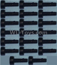 Wltoys 10428-2 Parts-Cup head inner hexagon Screws M2X6-(20pcs),Wltoys 10428-2 Rc Car Parts,High speed 1:10 Scale 4wd,10428-B2 Electric Power On Road Drift Racing Truck Car Parts