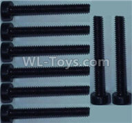 Wltoys 10428-2 Parts-Cup head inner hexagon Screws-M2X16-(8pcs),Wltoys 10428-2 Rc Car Parts,High speed 1:10 Scale 4wd,10428-B2 Electric Power On Road Drift Racing Truck Car Parts