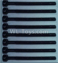 Wltoys 10428-2 Parts-Cup head inner hexagon Screws-M2X24(8pcs),Wltoys 10428-2 Rc Car Parts,High speed 1:10 Scale 4wd,10428-B2 Electric Power On Road Drift Racing Truck Car Parts